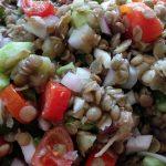 Καλοκαιρινή σαλάτα με φακές